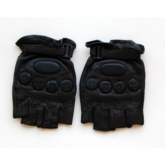 Перчатки без пальцев мужские кожа натуральная