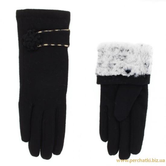 Перчатки женские кашемир, подкладка мех искусственный