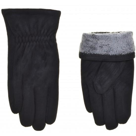 Перчатки мужские замш, подкладка махра