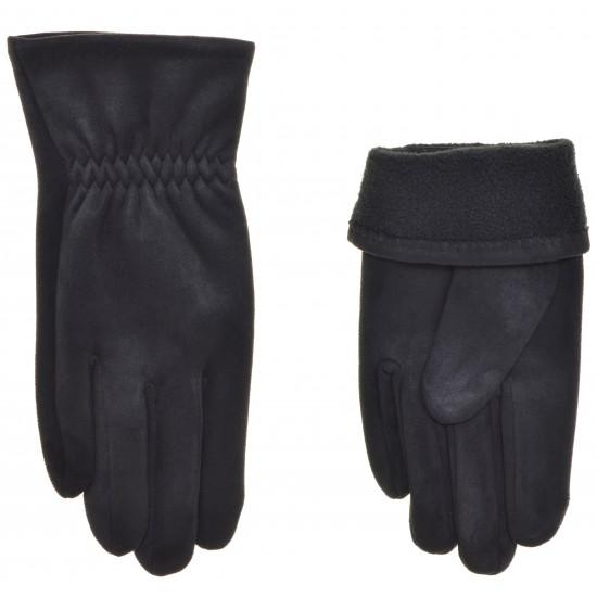Перчатки мужские замш, подкладка флис