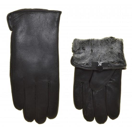 Перчатки мужские кожа натуральная, подкладка плюш