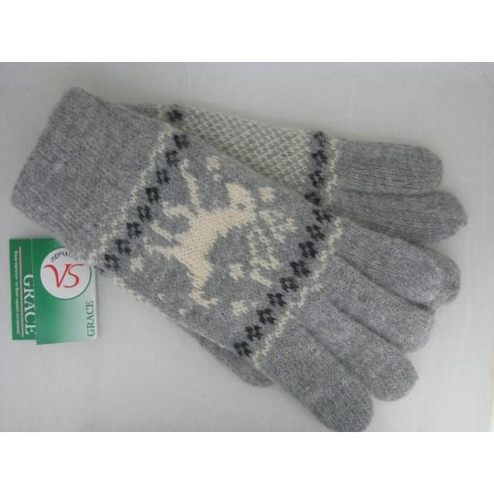 Перчатки женские шерсть, подкладка флис